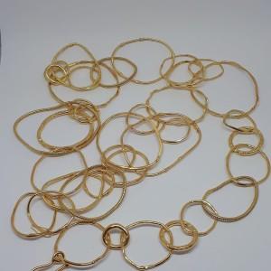 Cerchi Argento 925/1000 placcato oro giallo Pezzo unico realizzato a mano da Fernando Betto